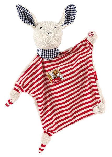 SIGIKID Przytulaczek komforter Zając w czerwone paski zdjęcie 3