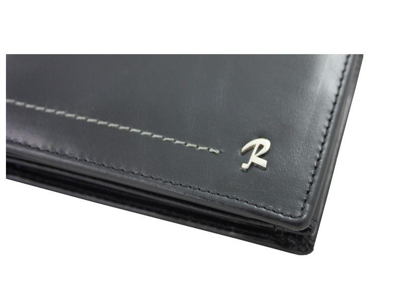 0f56c231b11b9 Męski skórzany poziomy portfel Rovicky