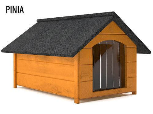 Różne kolory drewniana ocieplana buda dla psa L solidna + kurtyna na Arena.pl