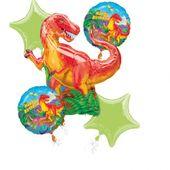 Bukiet balonów foliowych Dinozaury 5 szt