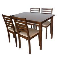 Zestaw kuchenny stół + 4 krzesła do jadalni kuchni nowoczesny drewniany X030 120x75 cm