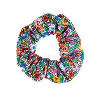 Folk gumka do włosów scrunchie - wzory opolskie