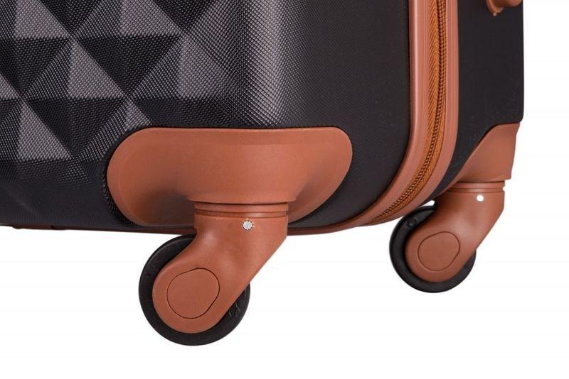 Walizka kabinowa torba podróżna twarda ABS mała S bordowa NOWY MODEL! zdjęcie 6