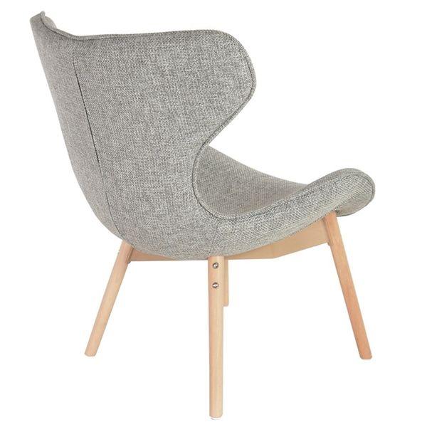 Wygodny Fotel Fox Krzesło Szare Grey Do Salonu Sypialni