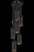 Lampa wisząca MONACO czarny ze złotym wnętrzem