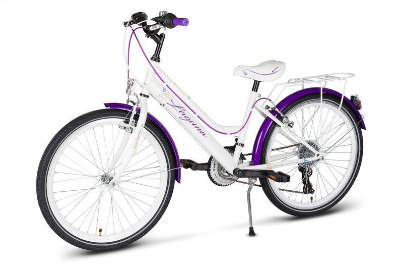 Rower 24 KANDS LAGUNA VS-2 stożek biało-fioletowy zdjęcie 5