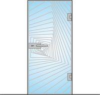 Drzwi szklane otwierane mocowane bez ościeżnic + WZÓR   NA WYMIAR !