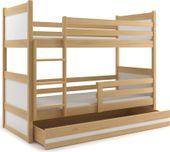 Łóżko dziecięce piętrowe RICO meble dla dzieci 190x80 + SZUFLADA