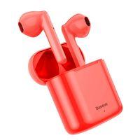 Baseus Tws Encok W09 Douszne Bezprzewodowe Słuchawki Bluetooth 5.0 Tws Czerwony (Ngw09-09)