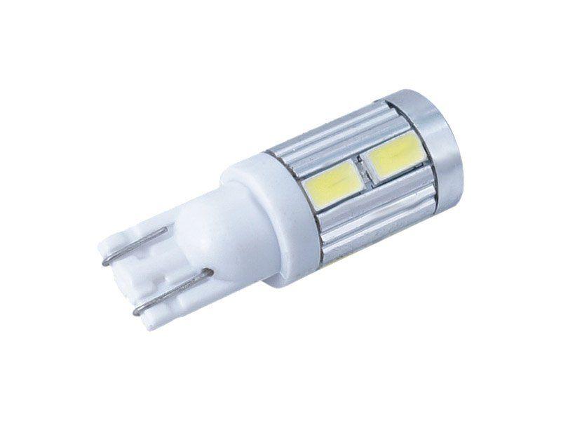 Żarówka samochodowa LED W5W T10 12V 10xSMD, Canbus, biała na Arena.pl