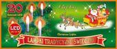 Tradycyjne świeczki na choinkę • sznur 4,75 m • 20 LED • do mocowania na gałązki • oświetlenie świąteczne LED NR 0199 Wybierz kolor światła: - Multikolor