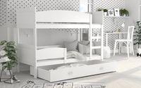 Łóżko piętrowe TWIST COLOR 190x80  szuflada + materace