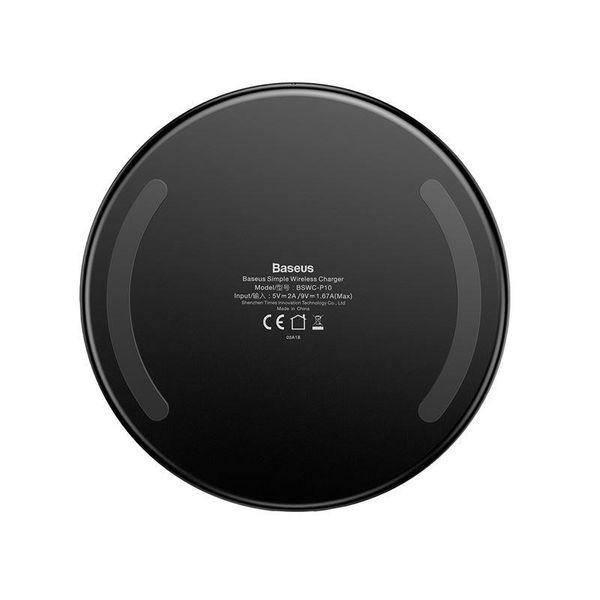 Baseus Simple - Bezprzewodowa ładowarka indukcyjna Qi do iPhone i Android 10W (czarny) zdjęcie 9