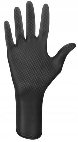 Rękawice nitrylowe ideall GRIP+ black M  50 szt na Arena.pl