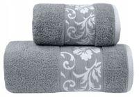 Ręcznik Glamour 50x90 Jasny Popiel Greno