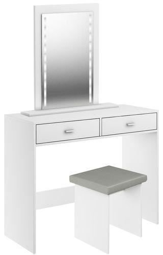 Taboret stołek do toaletki biały na Arena.pl