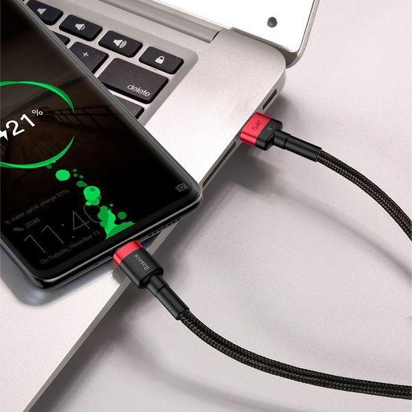 Baseus Cafule kabel przewód USB Typ C SuperCharge 40W Quick Charge 3.0 QC 3.0 1m czarno-czerwony (CATKLF-P91) zdjęcie 5