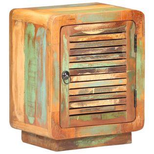 Szafka nocna, 40x30x50 cm, lite drewno odzyskane