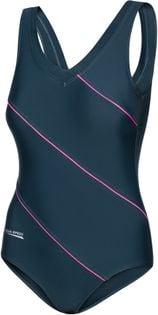 Kostium pływacki SOPHIE Roz.48-54 Rozmiar - Stroje damskie - 52(6XL), Kolor - Stroje damskie - Sophie - 03 - grafit / magenta piping