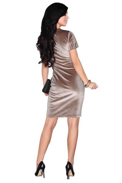 Elegancka Sukienka obcisła aksamitna Mini szykowna i wygodna XL zdjęcie 3