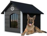 Różne kolory drewniana ocieplana buda dla psa XL solidna + kurtyna