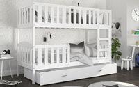 Łóżko piętrowe KUBUŚ COLOR 190x80 + szuflada + materace