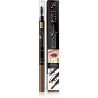 Eveline Brow Multifunction Styler nr 01 Medium Brown Kredka do brwi 3w1 1szt - 01 Medium Brown