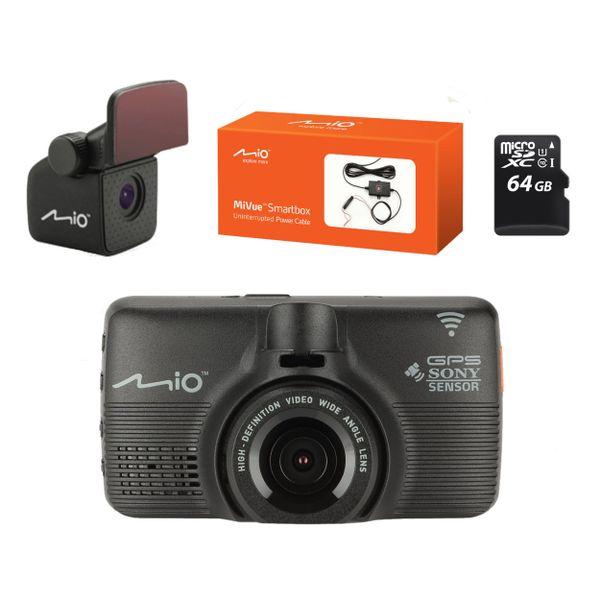 Rejestrator Mio Mivue 792 +Kamera A30 + karta pamięci 64GB + Smartbox zdjęcie 1