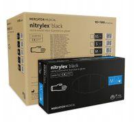 Rękawice nitrylowe nitrylex black M  karton 10 x 100 szt