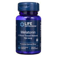 Life Extension Melatonina 750 mcg przedłużone uwalnianie - 60 tabletek