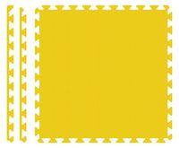 PUZZLE PIANKOWE MATA 4szt 62x62x1,1 cm Żółty