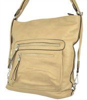 Plecak torebka 2w1 plecako torba beżowa worek A4 damska