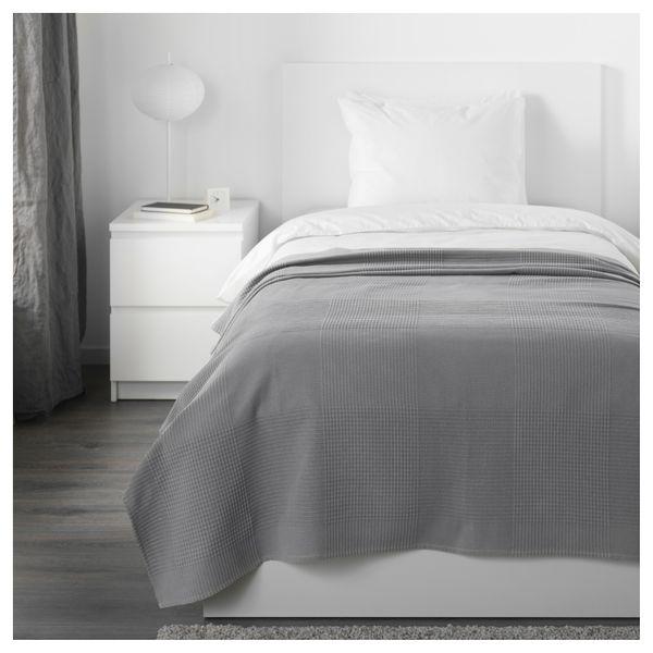 Ikea Indira Narzuta Na łóżko Szary 150x250cm