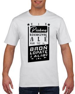 Koszulka męska MAM PIEKNA DZIEWCZYNE ALE MAM XXL