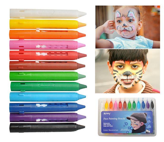 Kredki Do Malowania Twarzy Dzieci Kibic 12 Kolorów 6608 zdjęcie 1