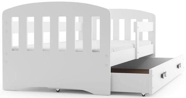 Łóżko dla dzieci HAPPY dziecięce 160x80  + SZUFLADA + MATERAC