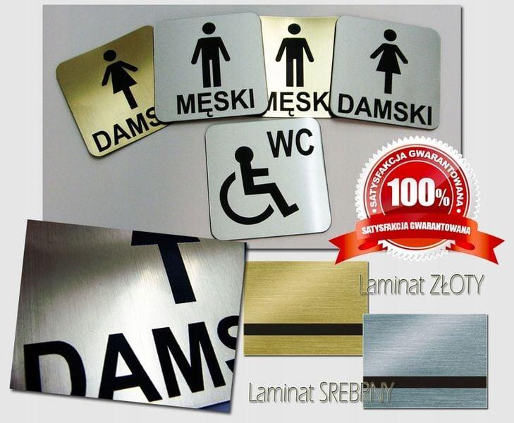 ELEGANCKA TABLICZKA NA DRZWI TOALETY WC GRAWER na Arena.pl