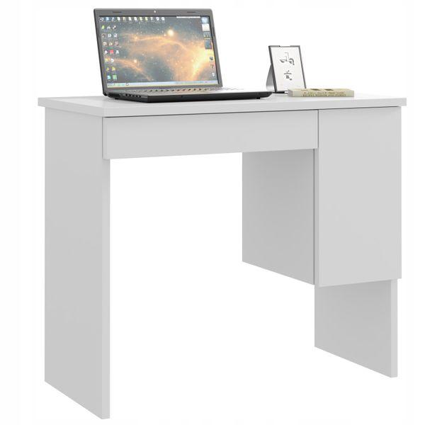 Biurko Komputerowe Białe Szkolne Laptop Producent
