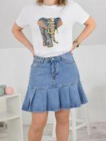 Jeansowa  spódnica  falbanka Rozmiar - L