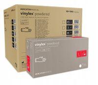 Rękawice winylowe vinylex powdered L  karton 10 x 100 szt