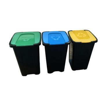 Zestaw koszy do segregacji śmieci Sortix 3x50L