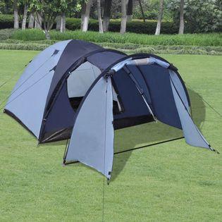 Namiot 4-osobowy niebieski VidaXL