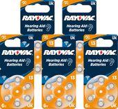 30x Baterie do aparatów słuchowych RAYOVAC 13