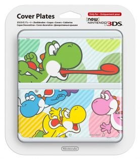 New 3DS Cover Plates 28 (multicolor Yoshi's)