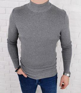 Szary sweter półgolf męski 3431 - L