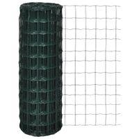 Euro ogrodzenie, stalowe, 25 x 0,8 m, zielone