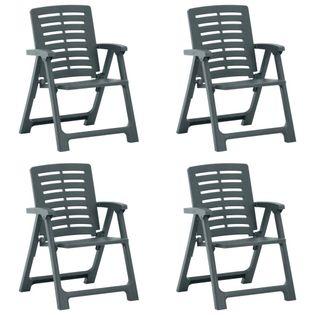 Lumarko Krzesła ogrodowe, 4 szt., plastikowe, zielone;