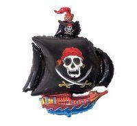 Balon foliowy STATEK PIRACKI piraci party czaszka