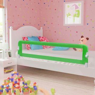 Barierka do łóżeczka dziecięcego zielona 180x42cm poliester VidaXL