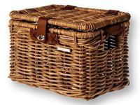 Kosz na przedni bagażnik BASIL DENTON M z pokrywą, ratan naturalny brązowy